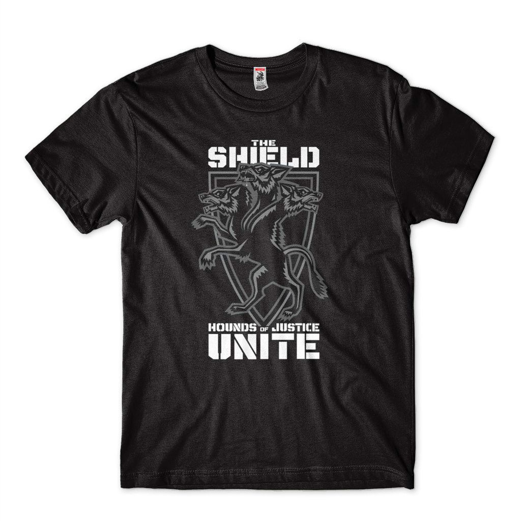 Camisa The Shield Houds of Justice Unite RAW Masculina WWE