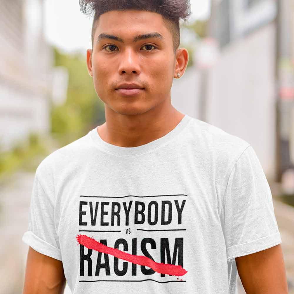 camisa todos contra o racismo