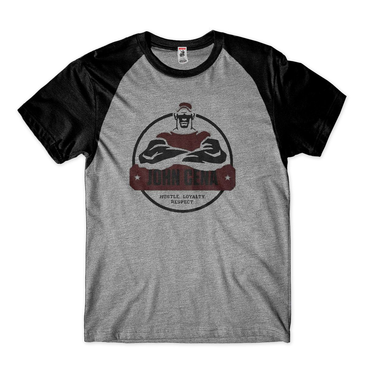 Camisa Wwe Camiseta John Cena Wrestling Raglan