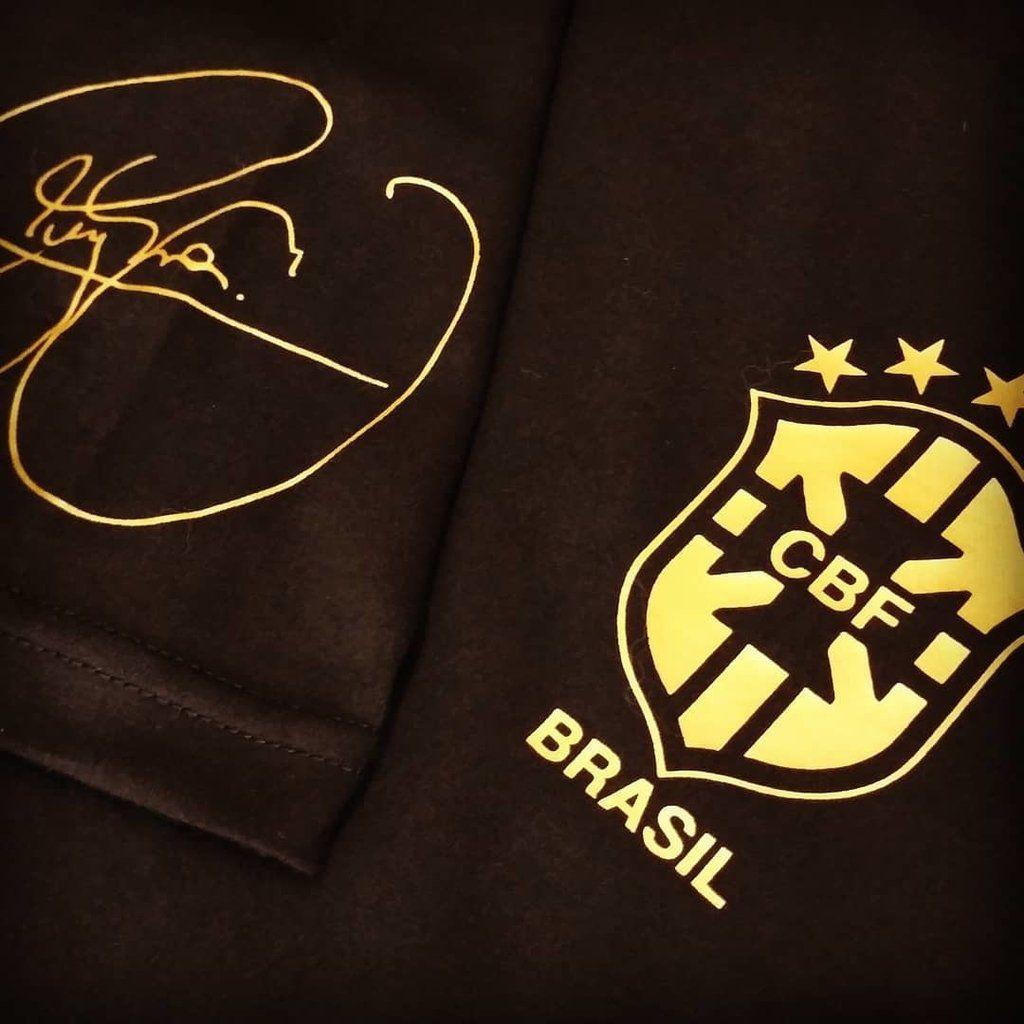 camisas copa do mundo 2018 brasil assinada neymar dourada