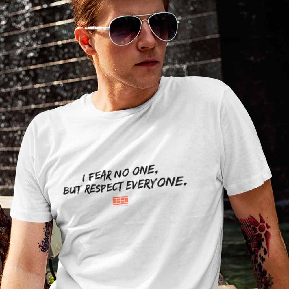 camisas de tenistas fear no one, respect