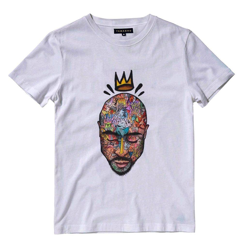 camiseta 2pac king tupac varias estampas de camisa rap algodão