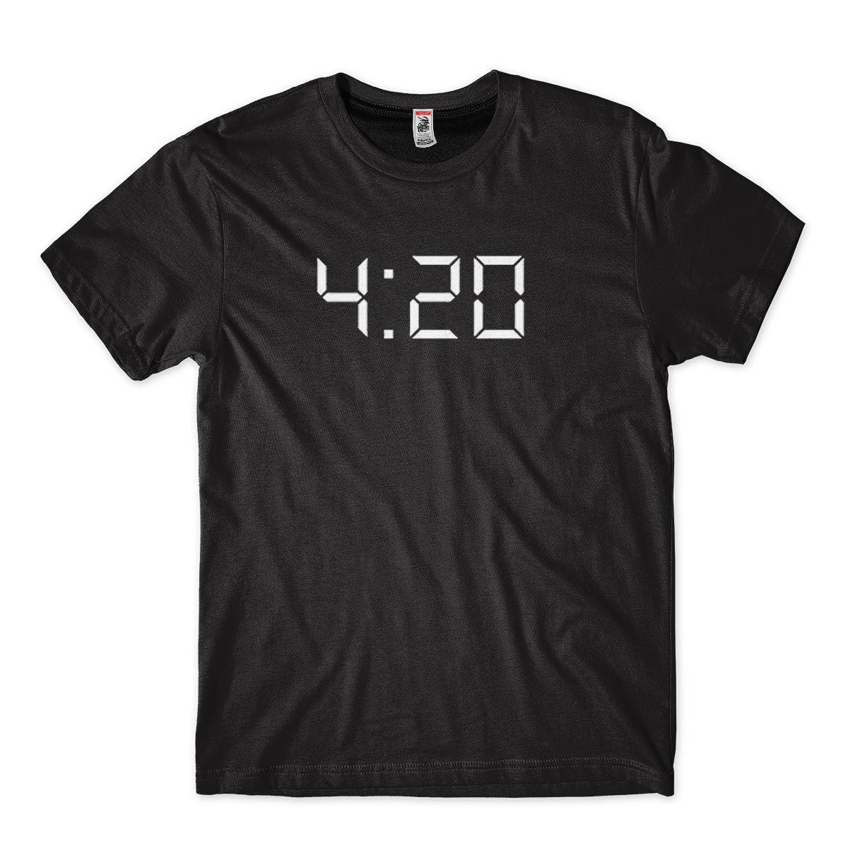 Camiseta 420 Cannabis Hora de Fumar Maconha Camisa Masculina