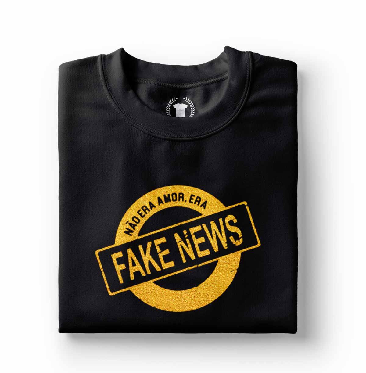 camiseta adulta babylook nao era amor era fake news