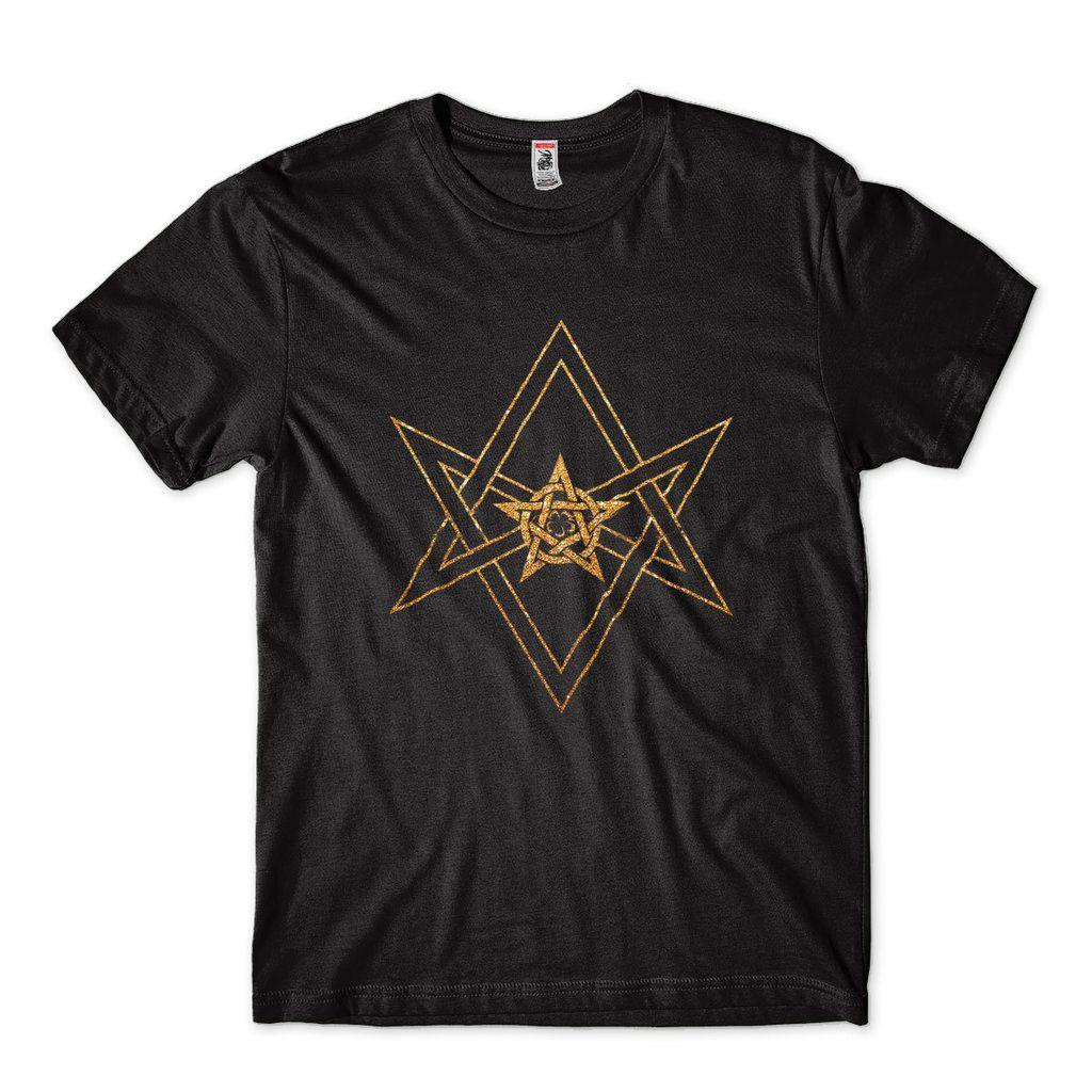 Camiseta Aleister Black Estampa Dourada Preta Wwe