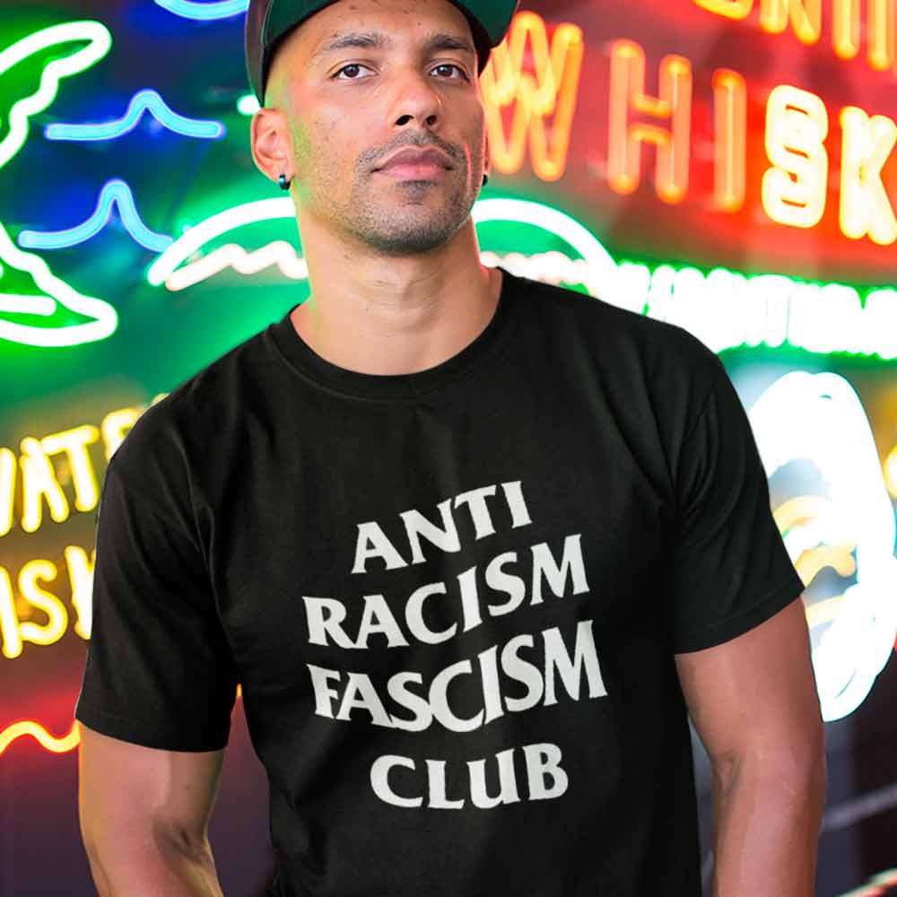 camiseta anti racismo anti fascismo