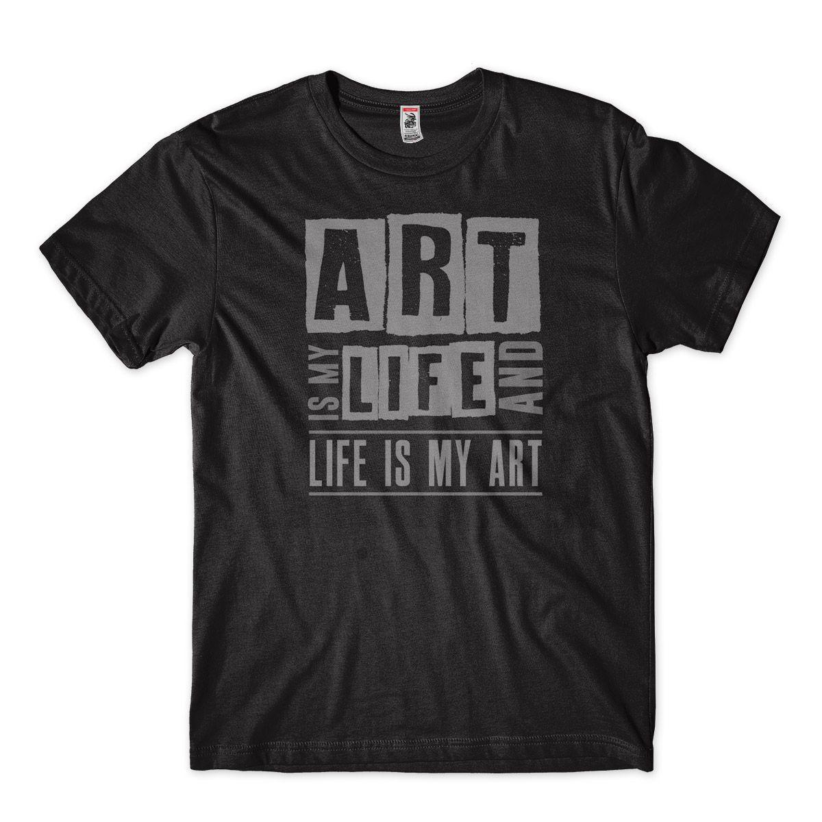 Camiseta Arte e minha vida e minha vida e arte