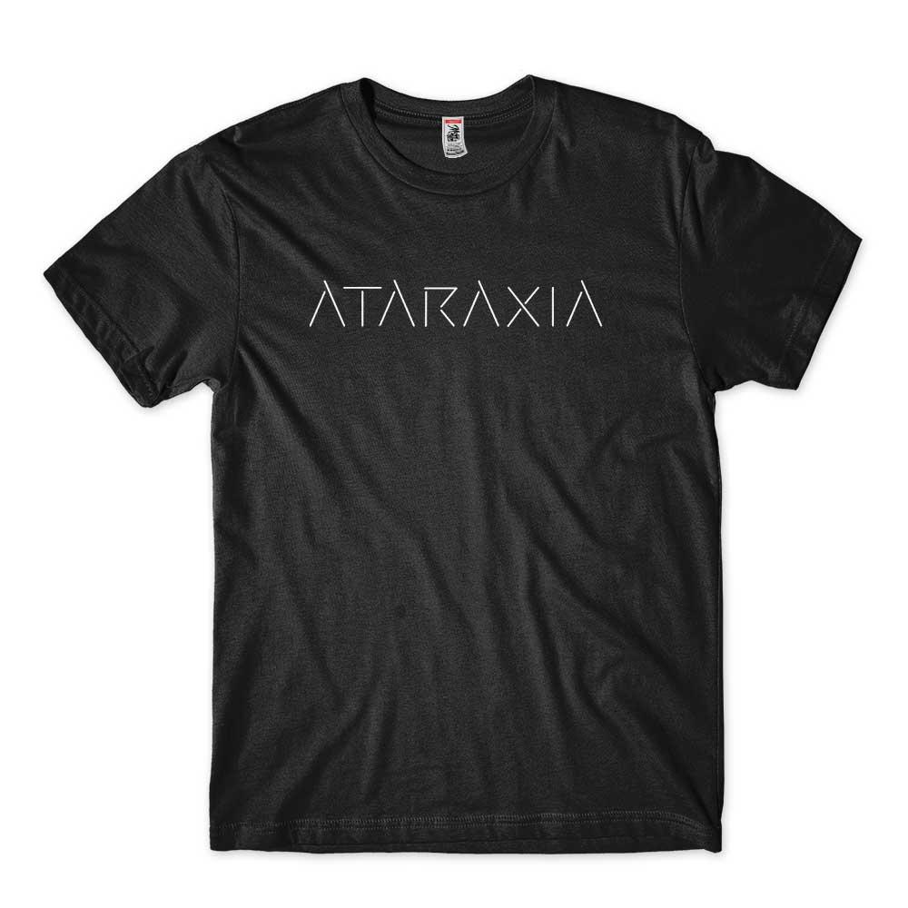 camiseta ataraxia Democrito felicidade tranquilidade