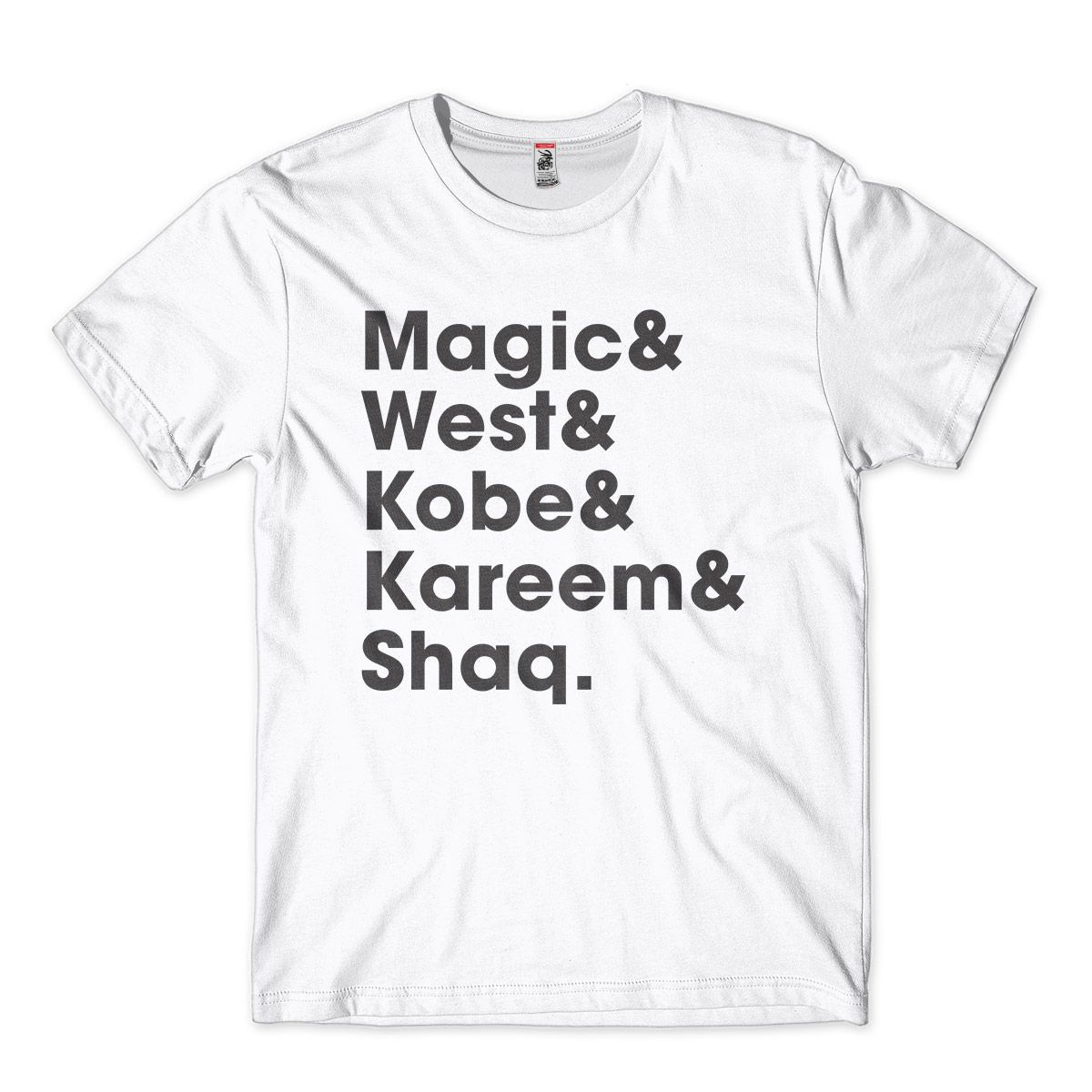 camiseta basquete magic west kobe kareem shaq  pivos