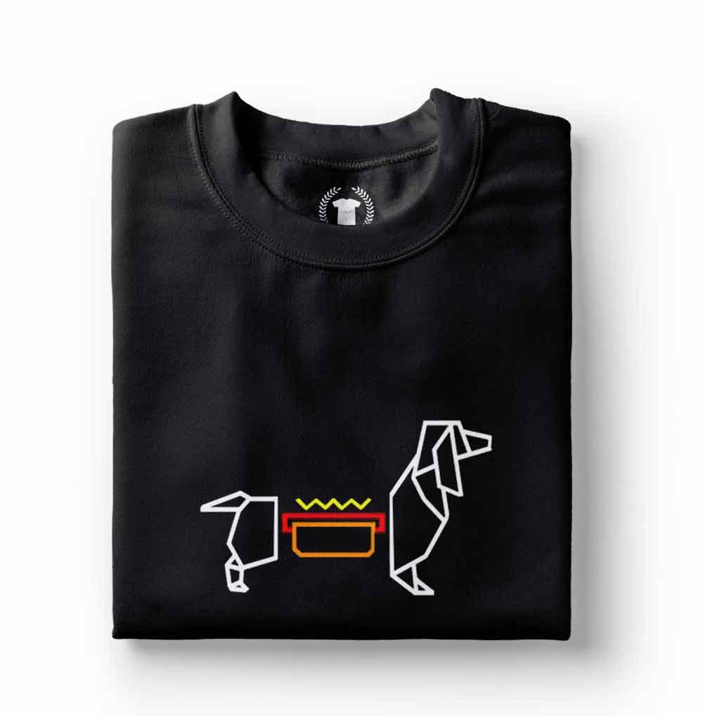 camiseta basse Dachshund preta