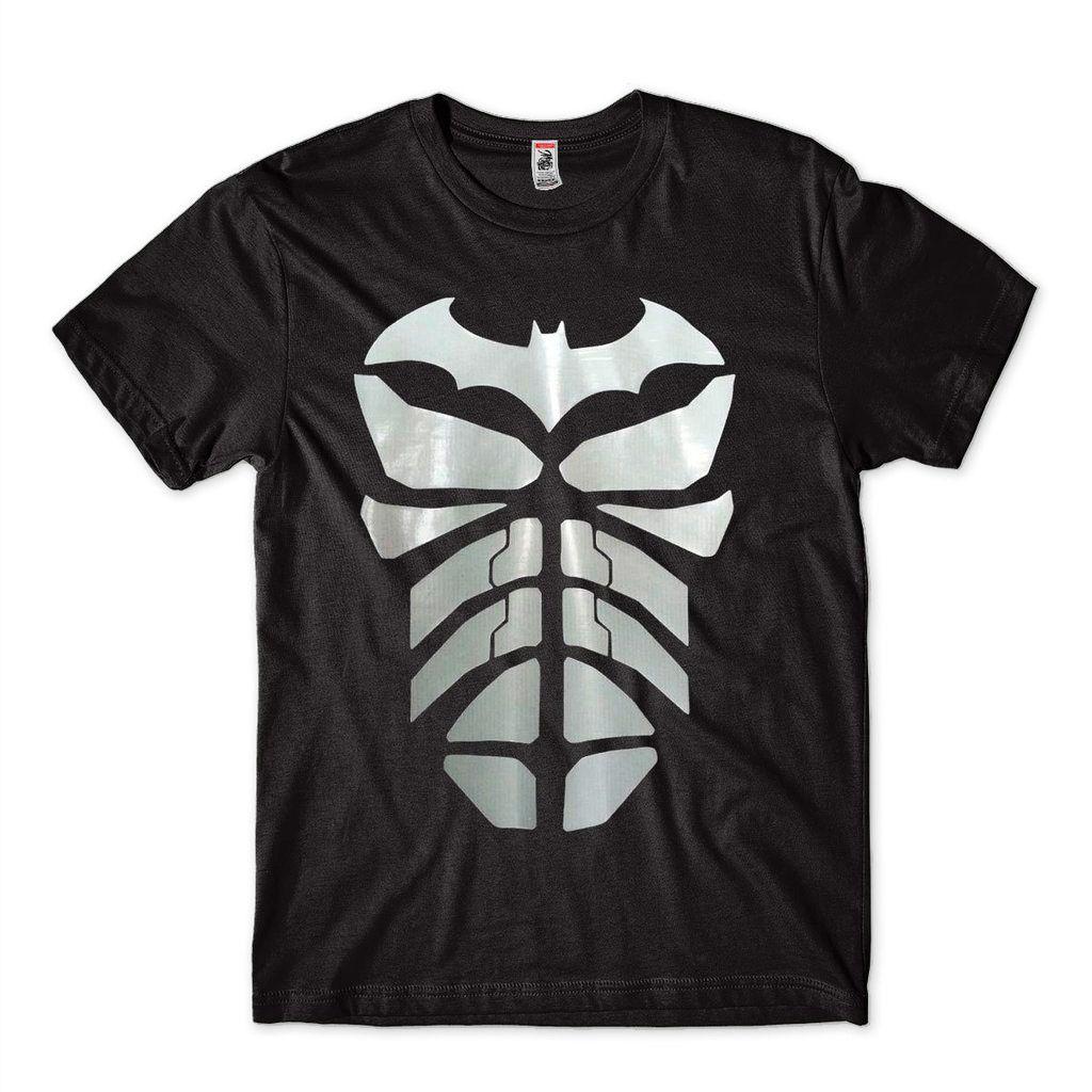 Camiseta Batman Masculina Estampa prateada Super Heroi Bruce Wayne
