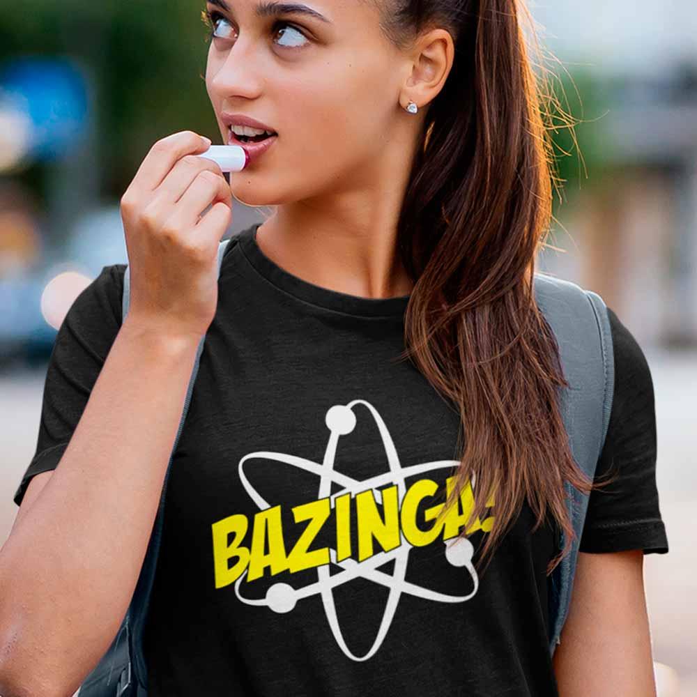 Camiseta bazinga sheldon preta
