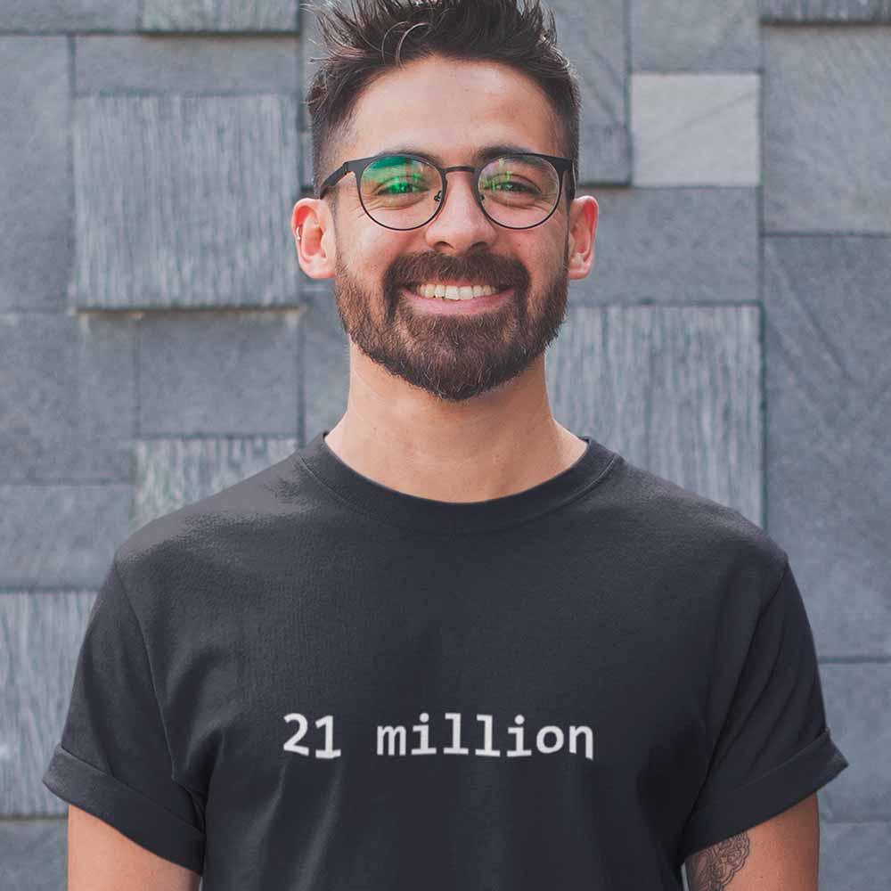 camiseta bitcoin 21 milhoes mineirador