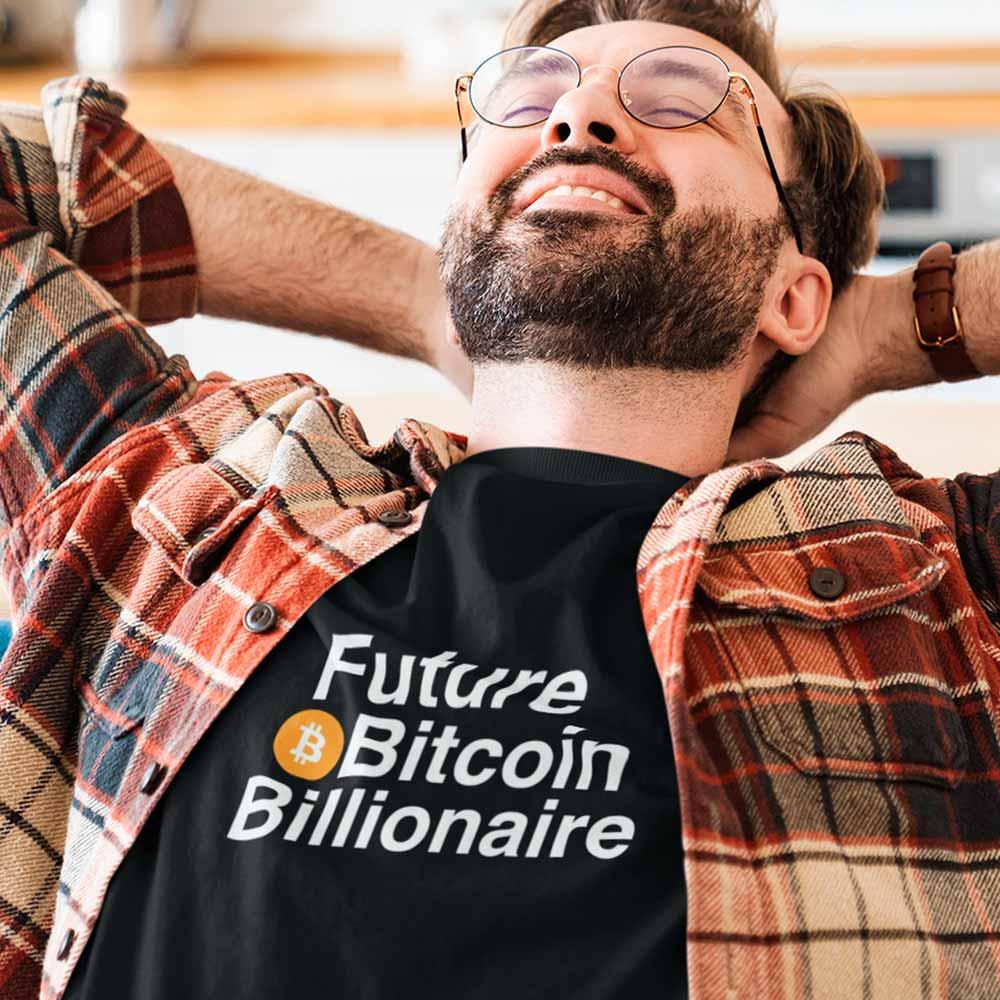 camiseta criptomoedas futuro bilionario