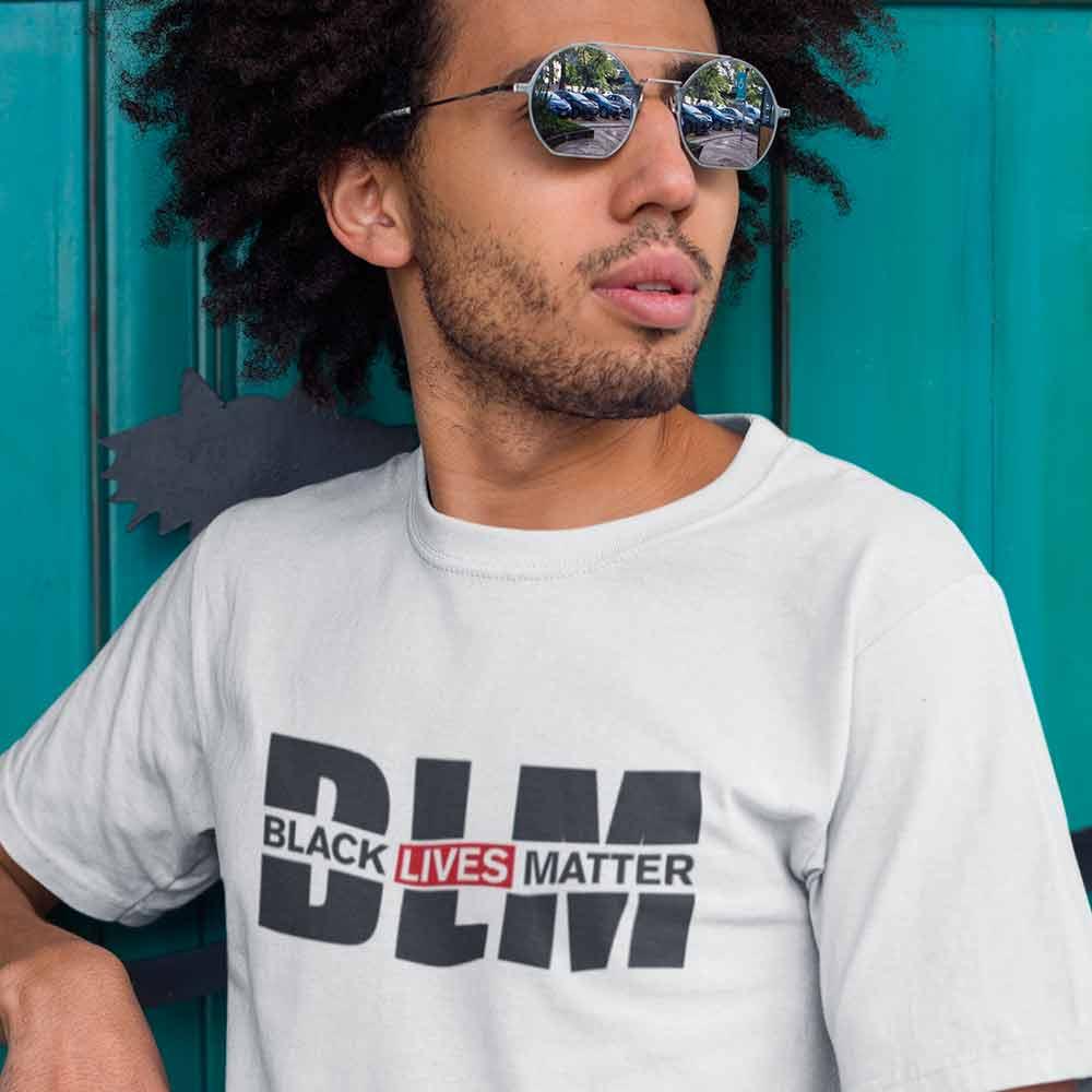 camiseta BLM branca vidas negras importam