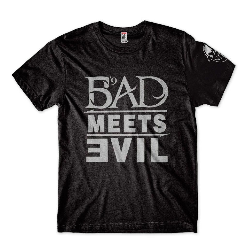 camiseta blusa eminem preta masculina bad meets evil