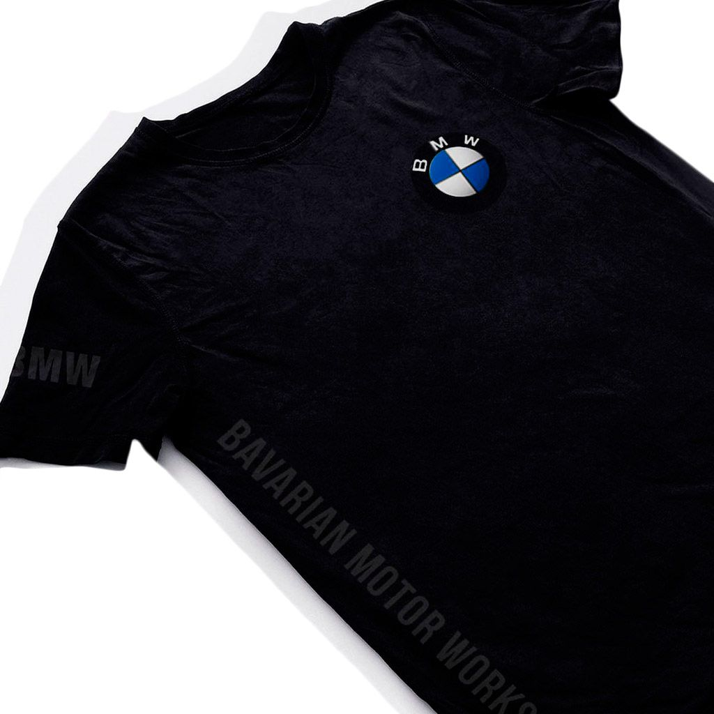 camiseta bmw motorsport preta camisa masculina