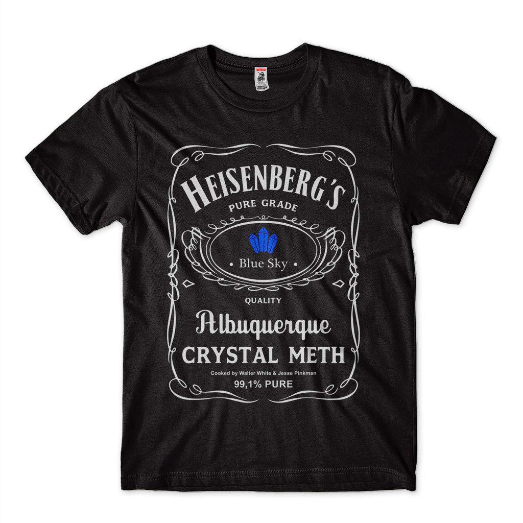 camiseta breaking bad heisenberg algodao preta metilamina