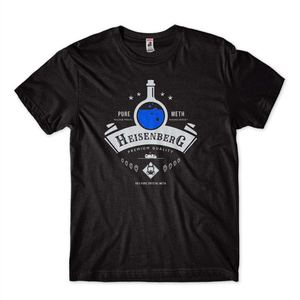 Camiseta Breaking Bad Masculina Pure Meth tamanho P Branca