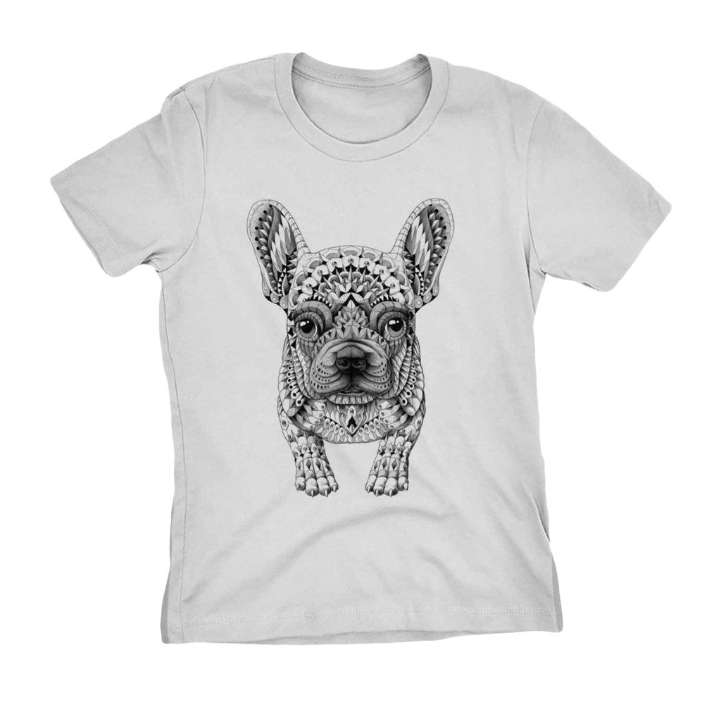 Camiseta Buldogue Francês Feminina Algodao