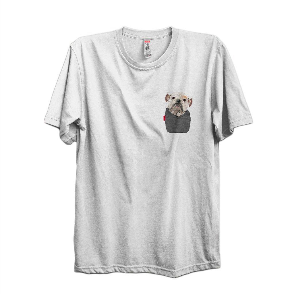 camiseta bulldog de bolso masculina engracada cachorro pet