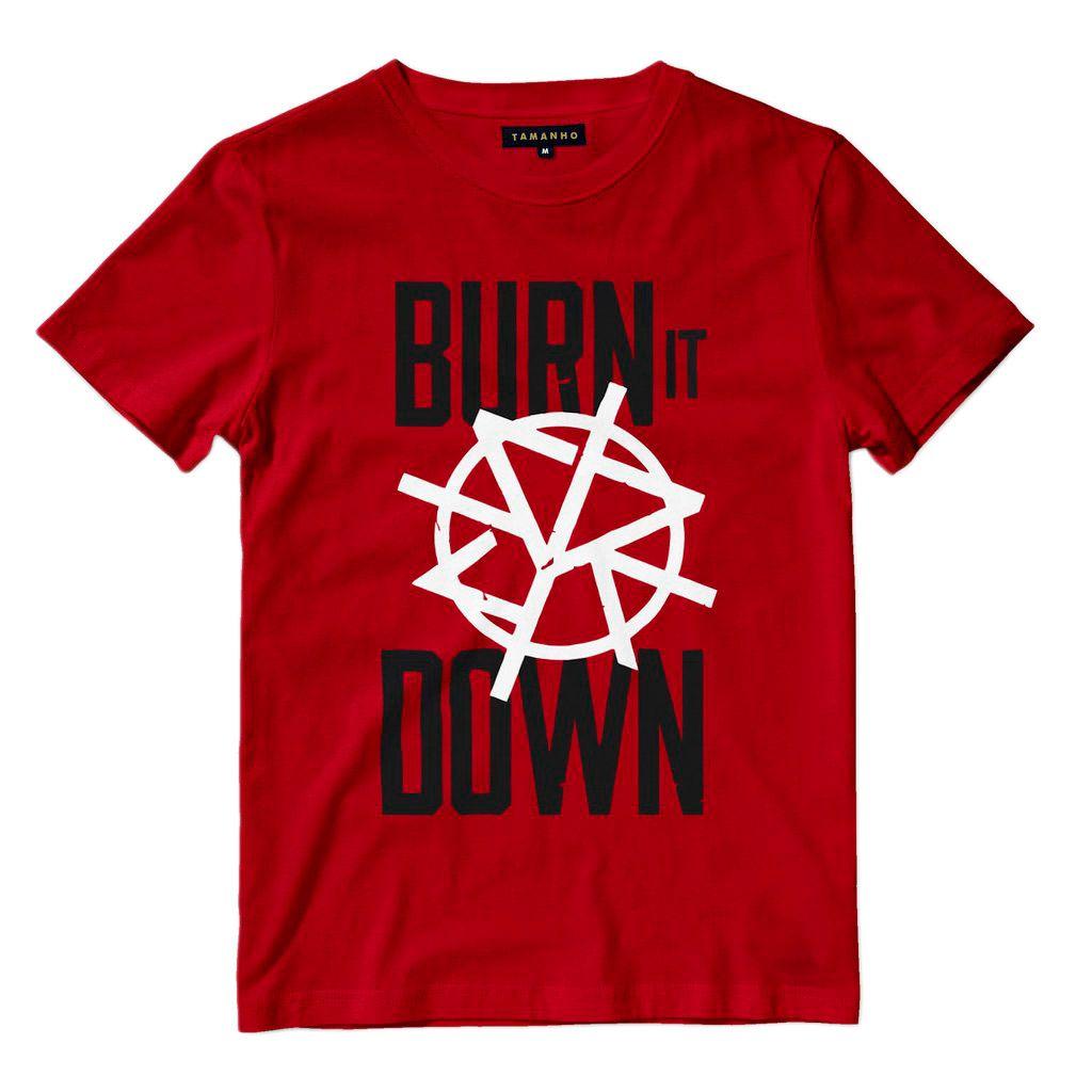 Camiseta Burn It Down Seth Rollins Wwe Shop Camisas Blusas