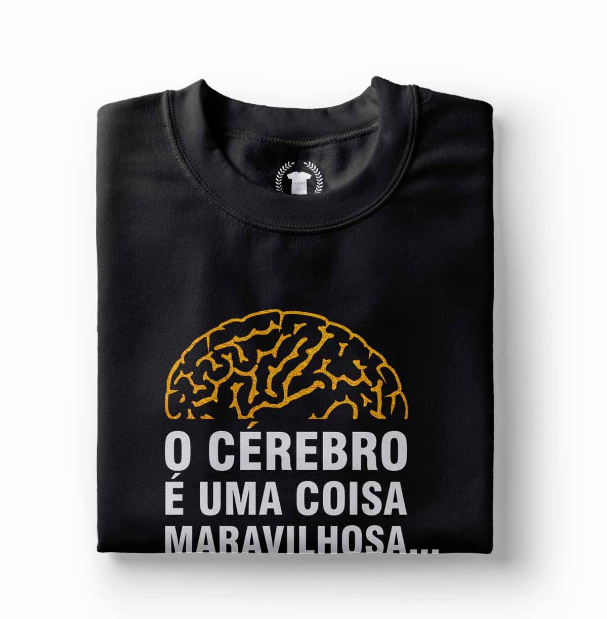 Camiseta camisa divertida todos deveriam ter um cerebro