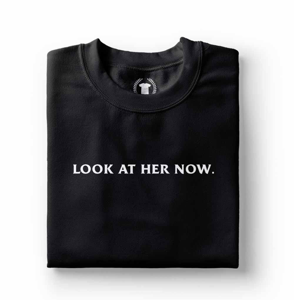 Camiseta camisa Look at her now selena gomez preta