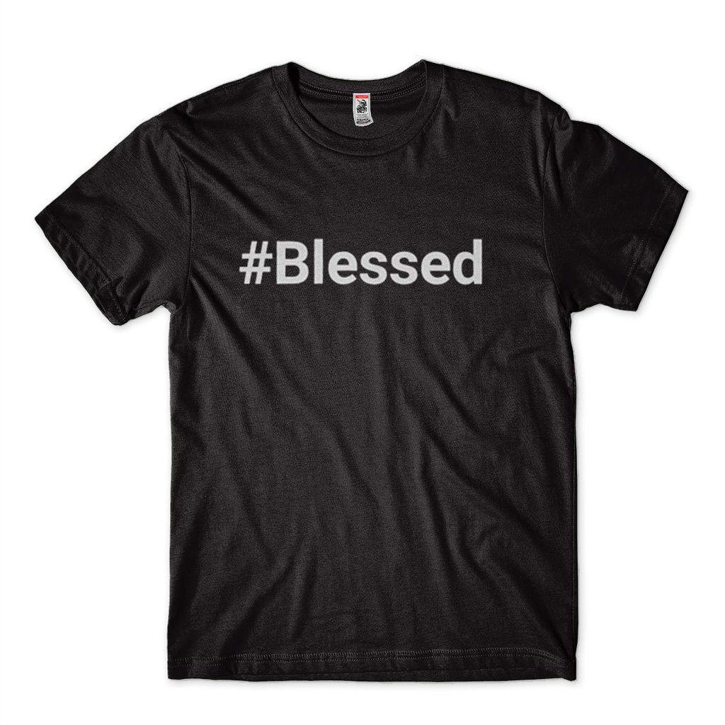 Camiseta Camisa Masculina Frase Blessed Camisa Abencoado