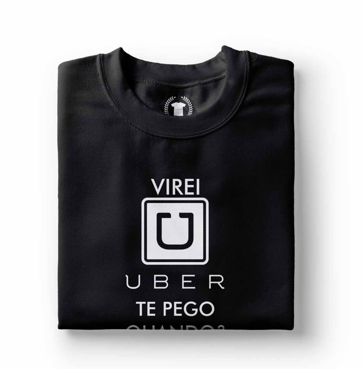 camiseta camisa virei uber te pego quando