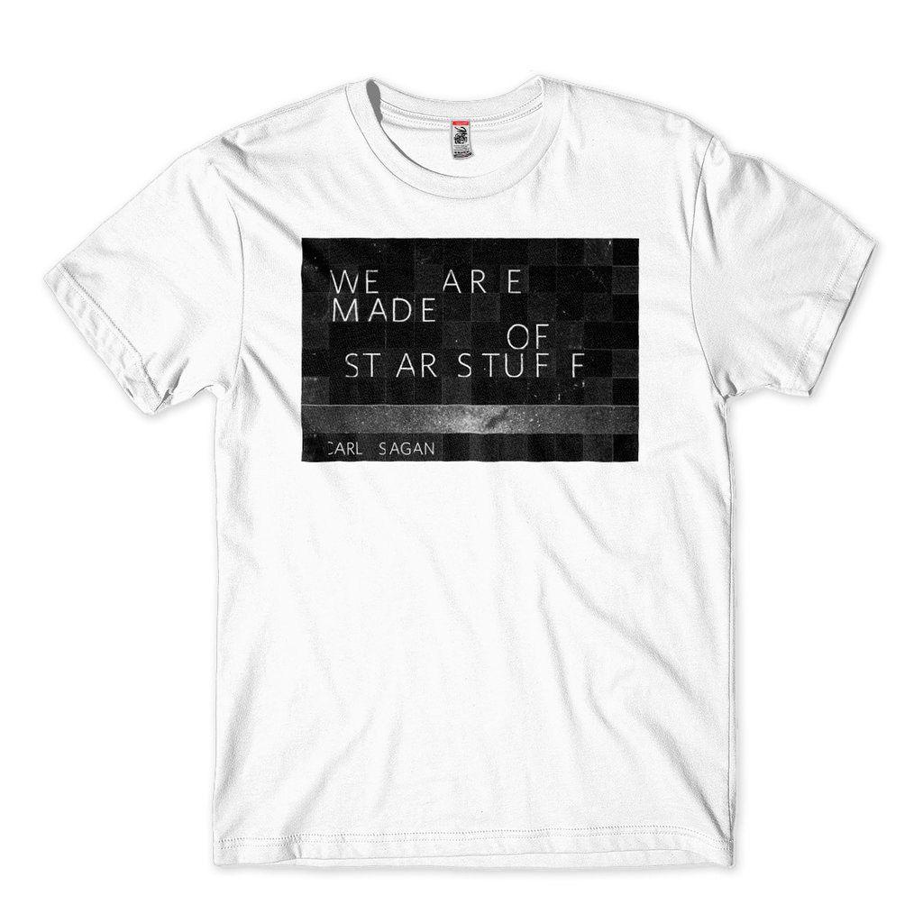 camiseta carl sagan poeira das estrelas masculina