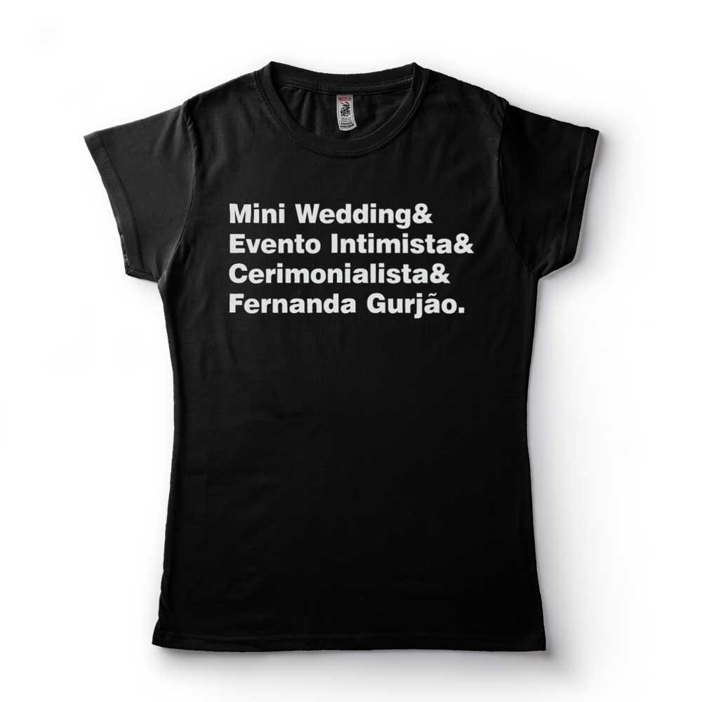 Camiseta Casamento intimista frases engracadas Cerimonialista