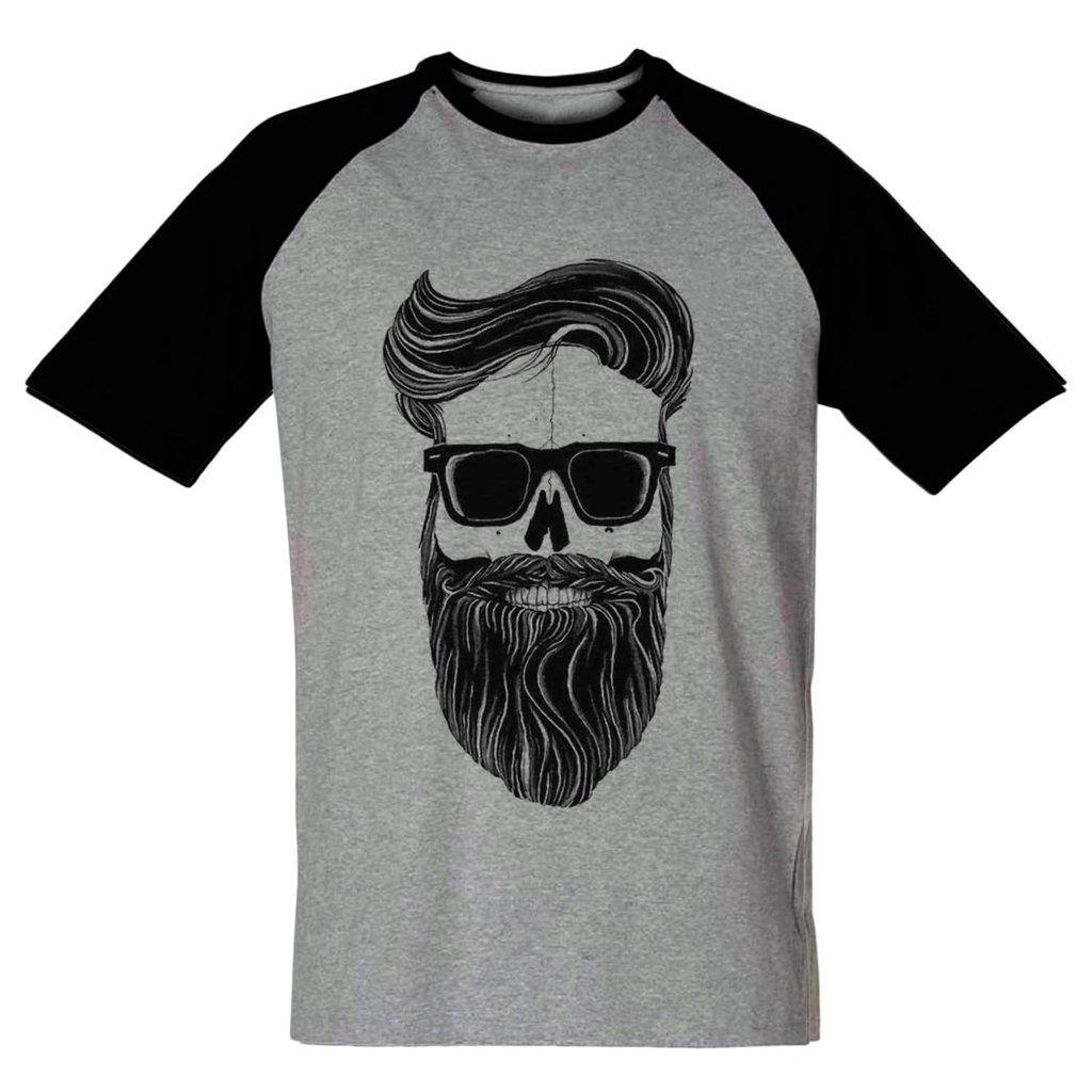 camiseta caveira barba barbuda camisa blusa