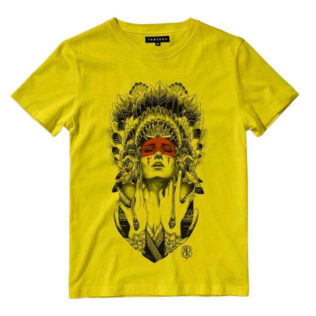 Camiseta Caveira Indiana Indigena Camisa Blusa