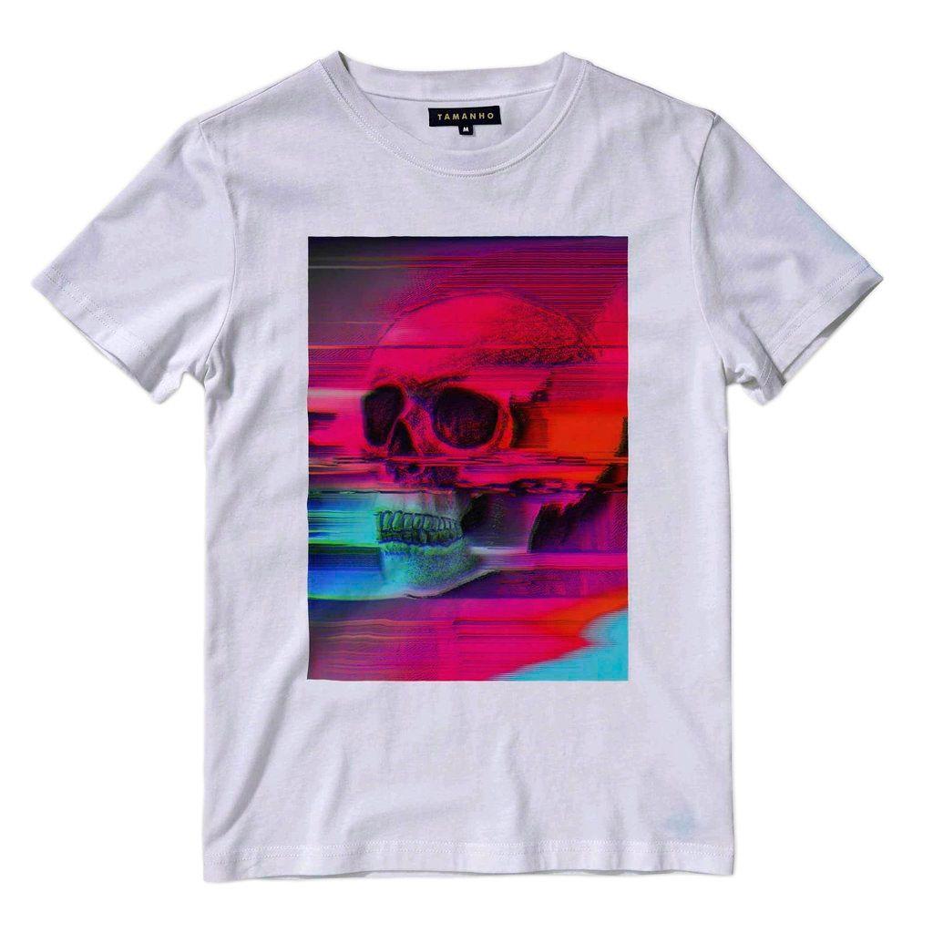 Camiseta Caveira Masculina Barata Blusa Camisa Manga Curta