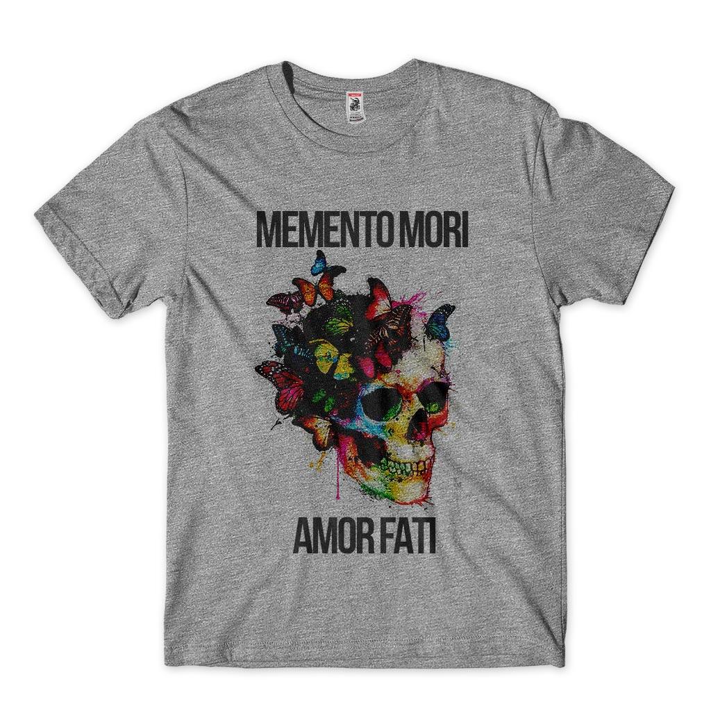 Camiseta Caveira Memento Mori Amor Fati