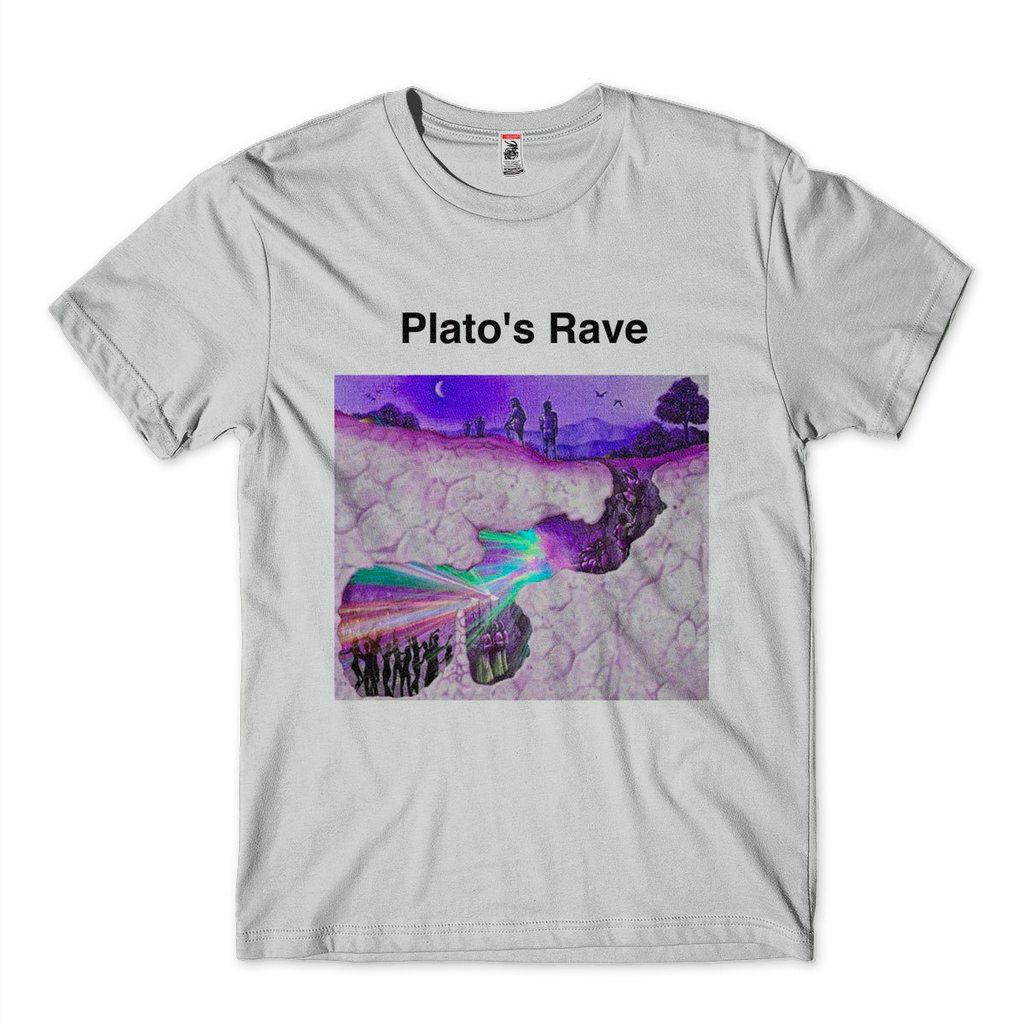 Camiseta Caverna De Platao Humor Filosofia Platos Rave