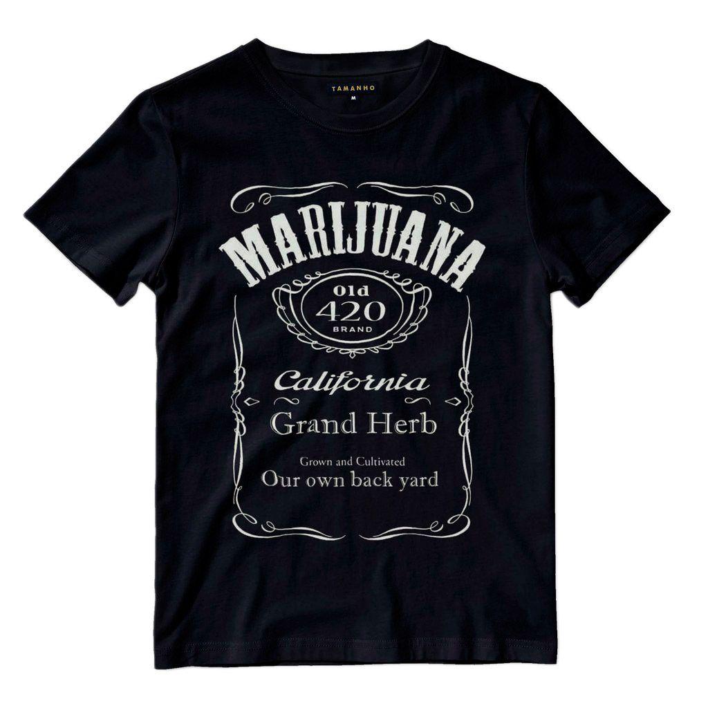 camiseta chronic marijuana preta camisa masculina weed