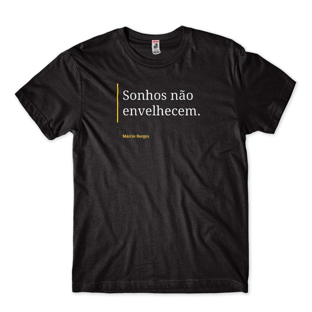 camiseta Clube da Esquina sonhos nao envelhecem marcio borge