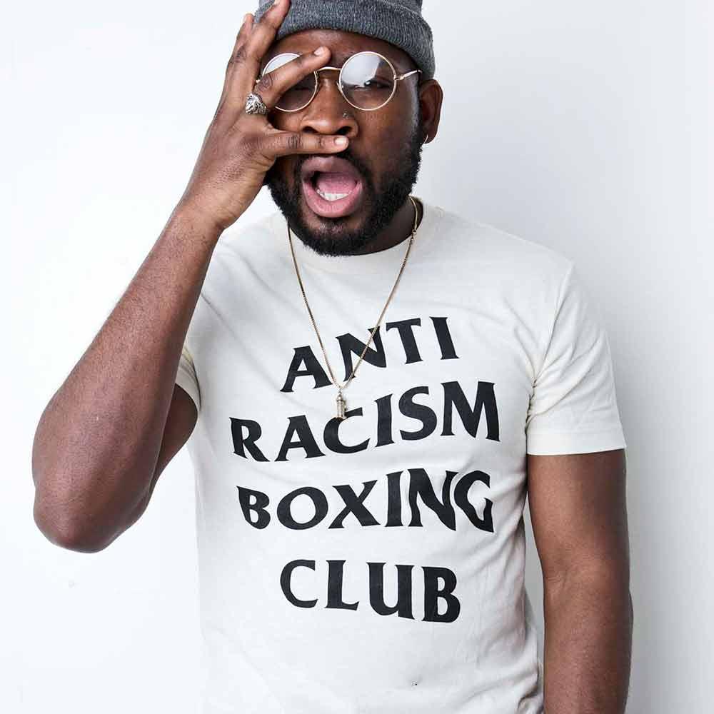 camiseta clube do boxe anti racista