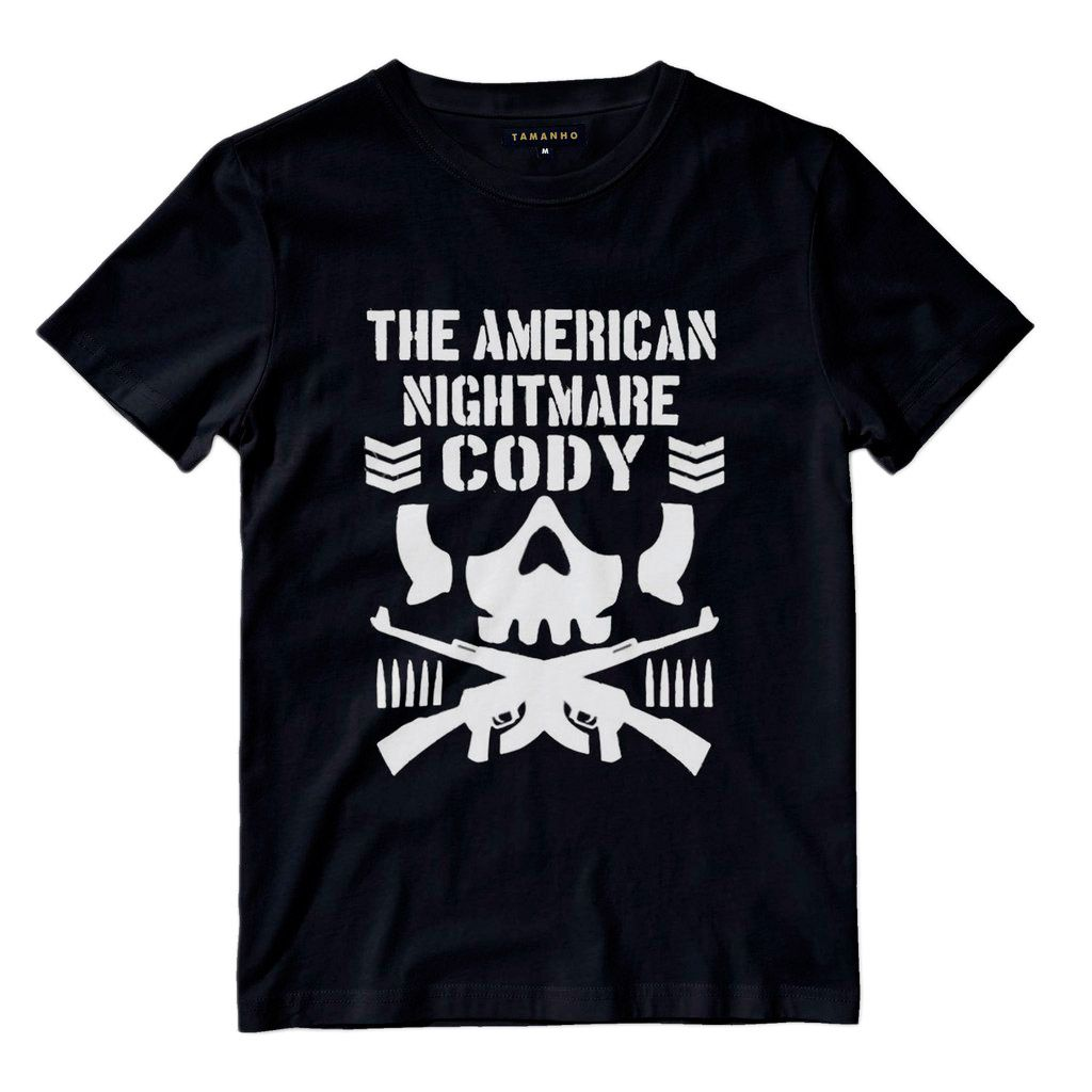 Camiseta Cody Nightmare Bullet Club Camisas Blusas Wwe