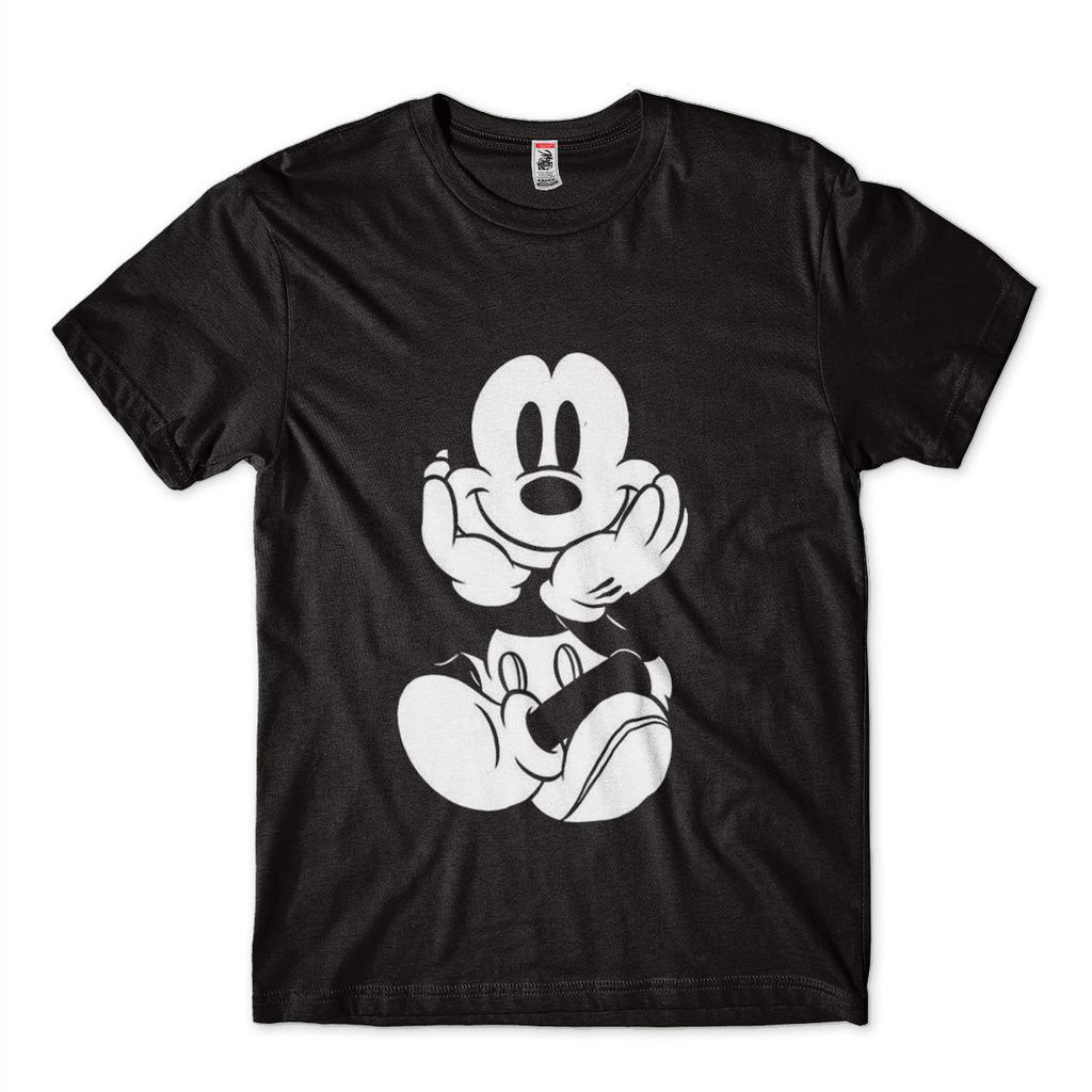Camiseta Com Estampa Mickey Diamante Preta Masculina