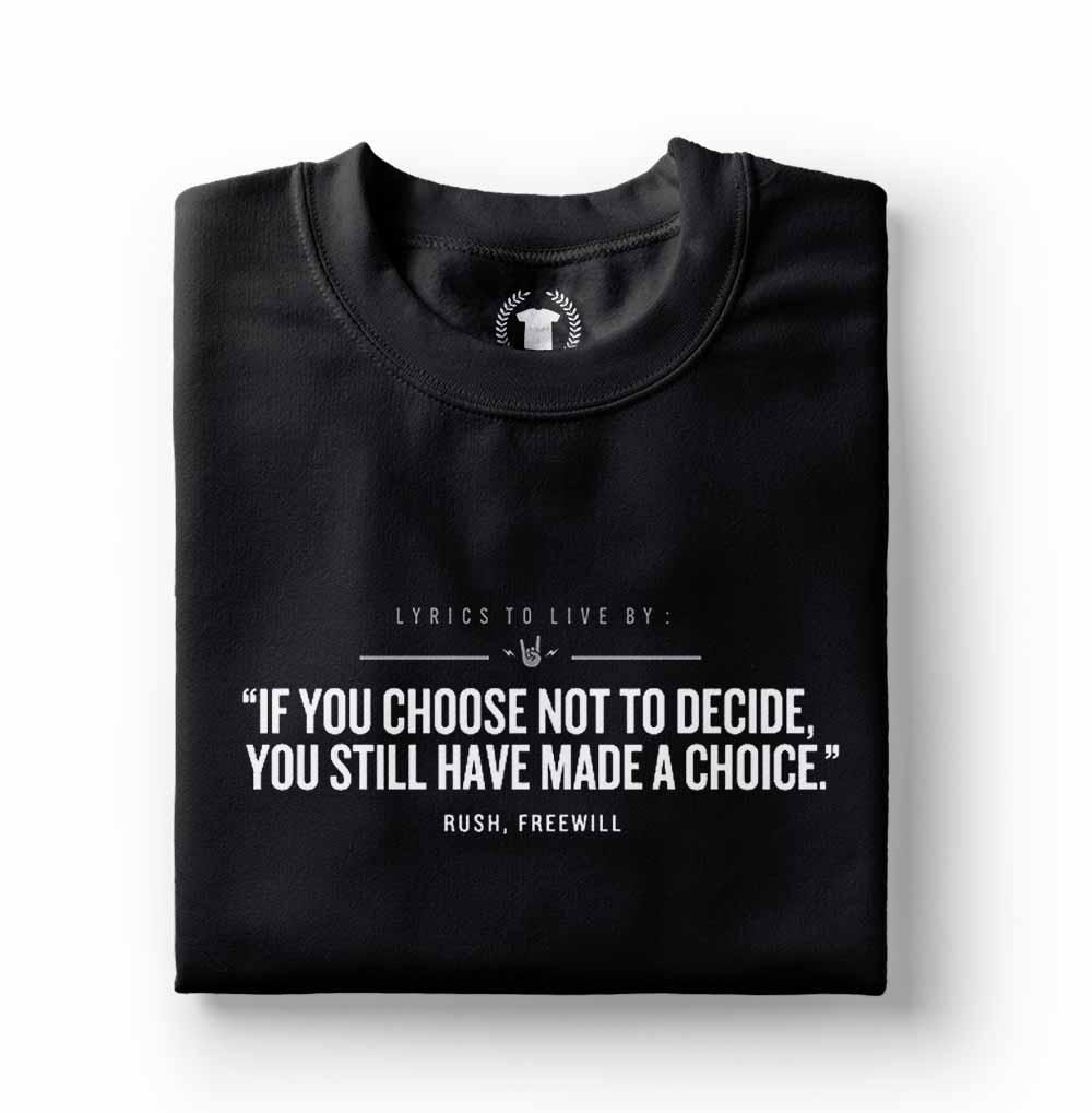 camiseta com frases de rock rush freewill