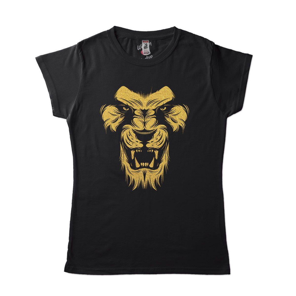 camiseta com leao dourado