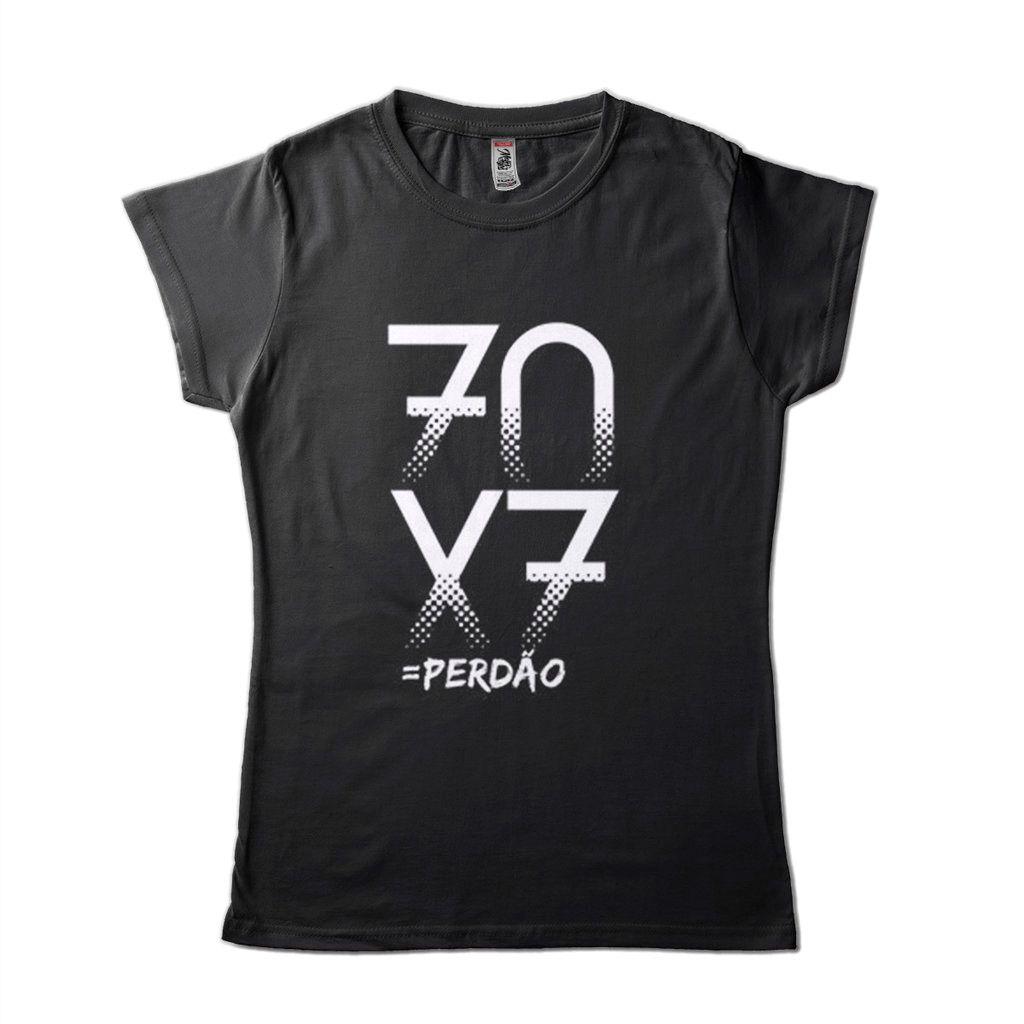 Camiseta Com Mensagem Evangelica 70X7 Perdao Moda Critã