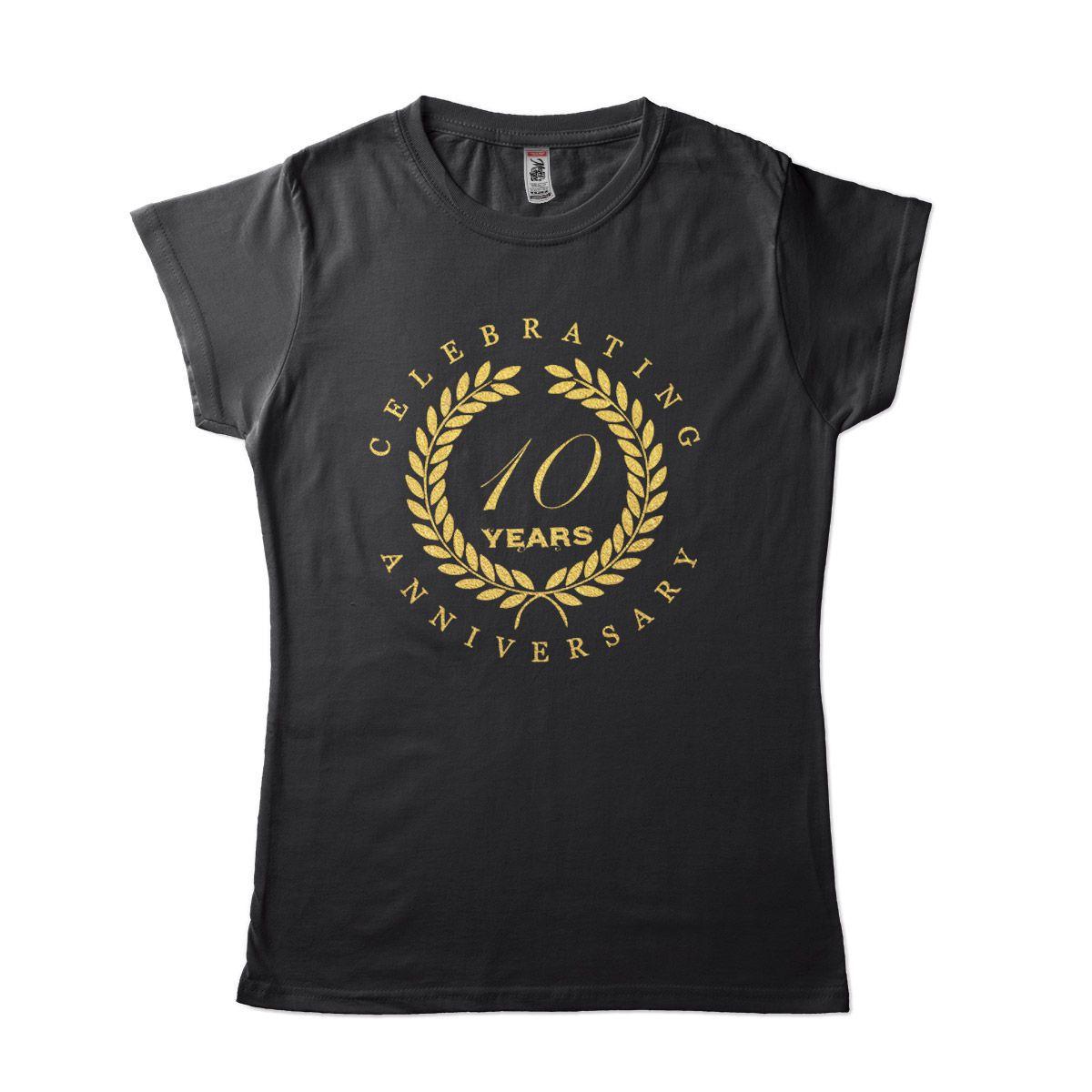 camiseta comemorativa casamento namoro 10 anos personalizada