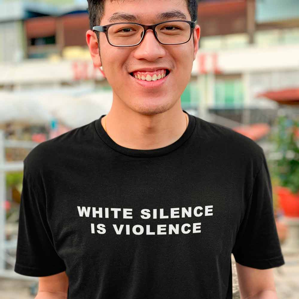 camiseta conscientizacao todos contra o racismo