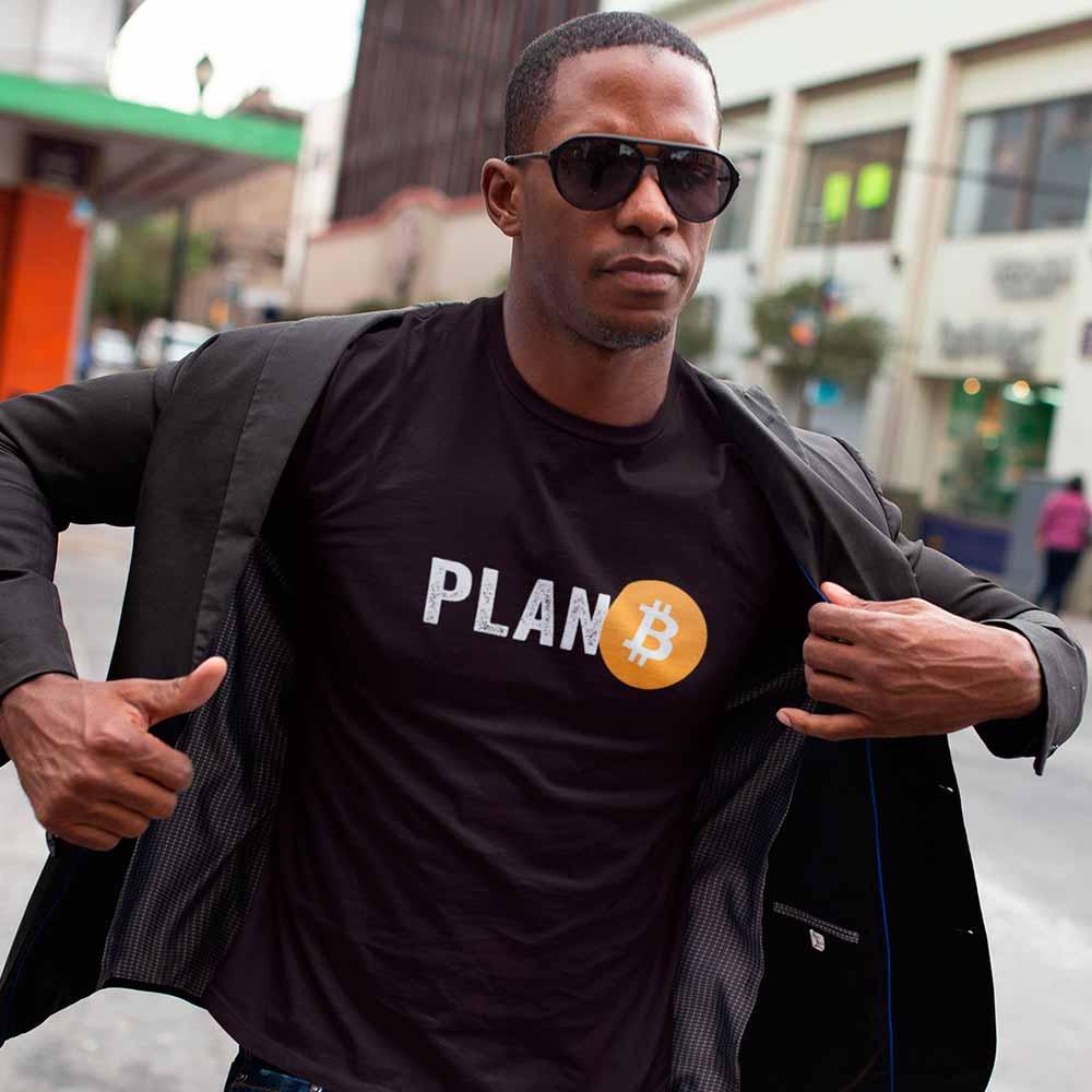 camiseta criptomoeda plano B