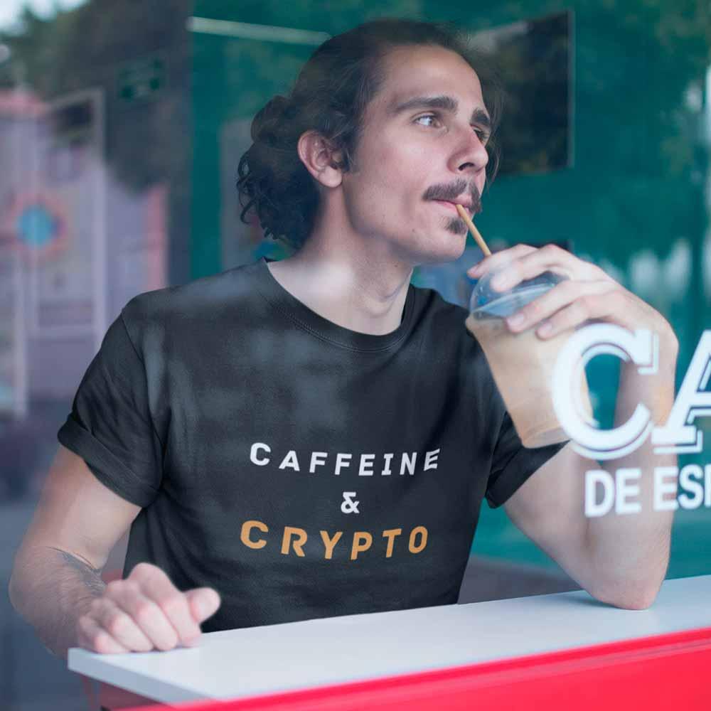 camiseta crypto e cafeina algodao preta