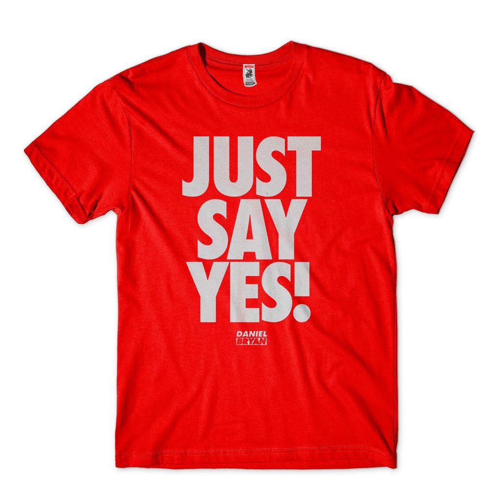 Camiseta Daniel Bryan Just Say Yes Smackdown